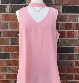 Rose Mock Neck Tank