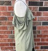 Olive Cold Shoulder Top