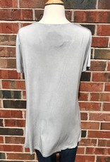 Grey Ladder Front Tee