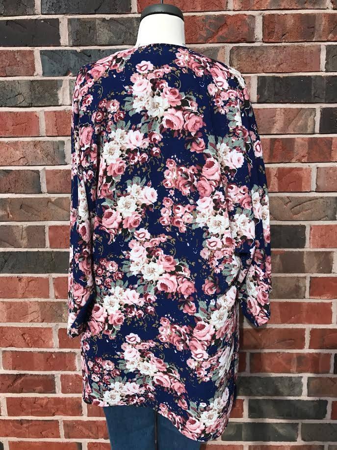 Royal Floral Kimono