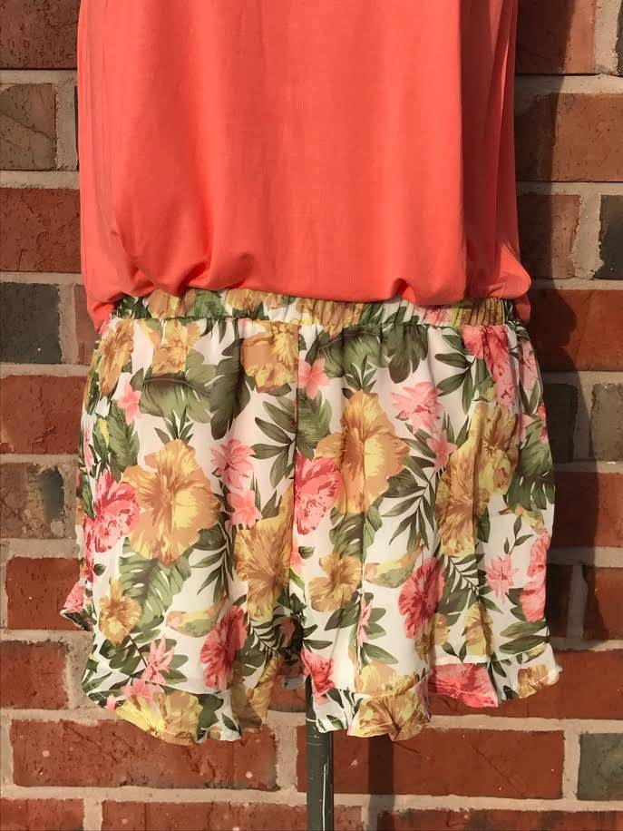 Tropical Floral Shorts