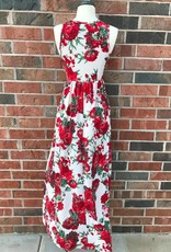 Taupe Floral Maxi