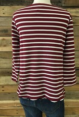 Burgundy Scallop Trim Top