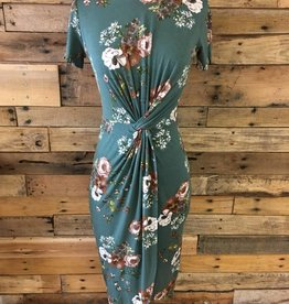 Spruce Floral Twisted Dress