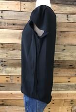 Black Tulip Sleeve Blouse