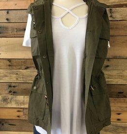 Olive Cargo Vest