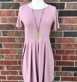 Mauve Gathered Dress