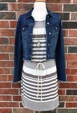 Mocha Striped Dress