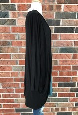 Plus Black Draped Cardigan