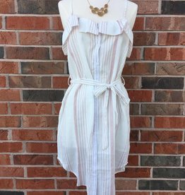 Blush/White Striped Dress