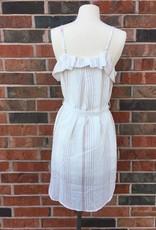 Blush/White Striped Dress