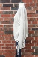 Ash/Cream Bowtie Pullover