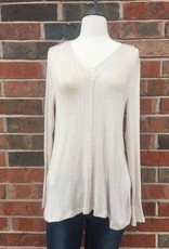 Taupe Cross-Back Top