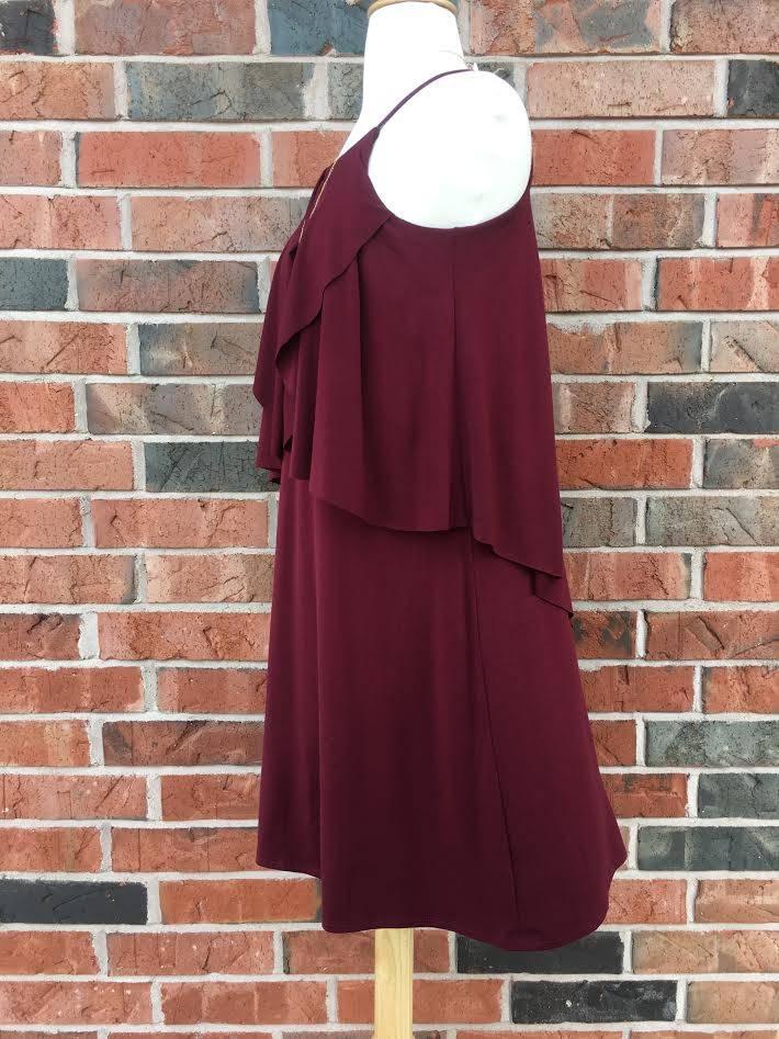 Wine Layered Dress