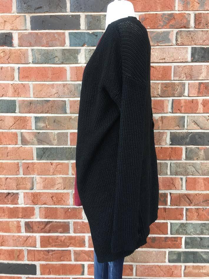 Black Criss-Cross Cardigan