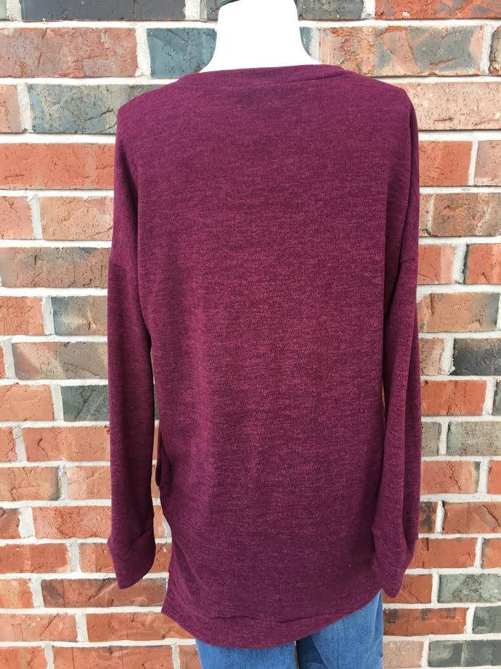 Burgundy Sweater Tunic