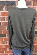 Olive Banded Sweatshirt