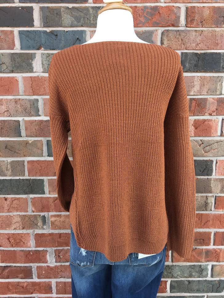 Rust Criss-Cross Sweater
