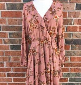 Mauve Floral Dress