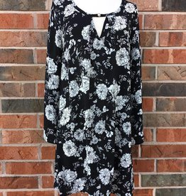 Black/Grey Floral Dress