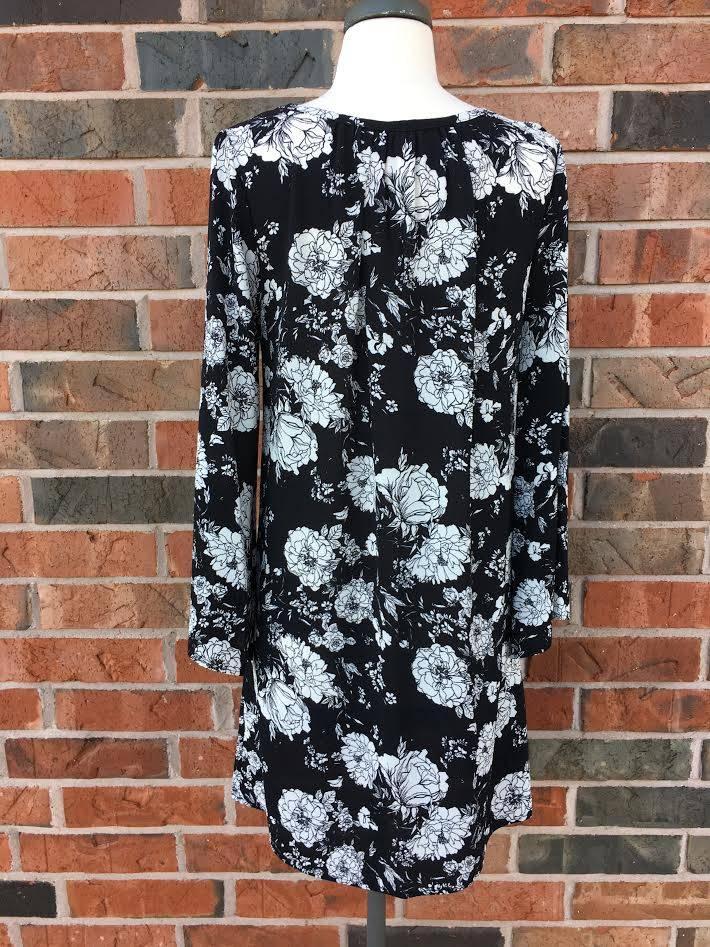 Black/Grey Floral Dress