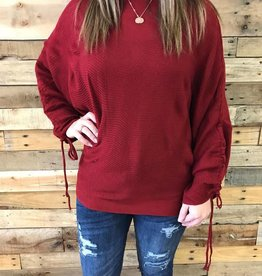 Deep Red Dolman Sweater