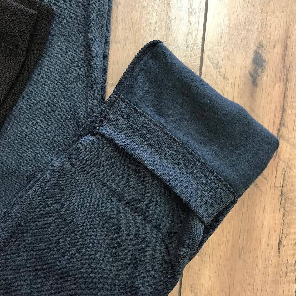 Black High-Waist Fleece Legging