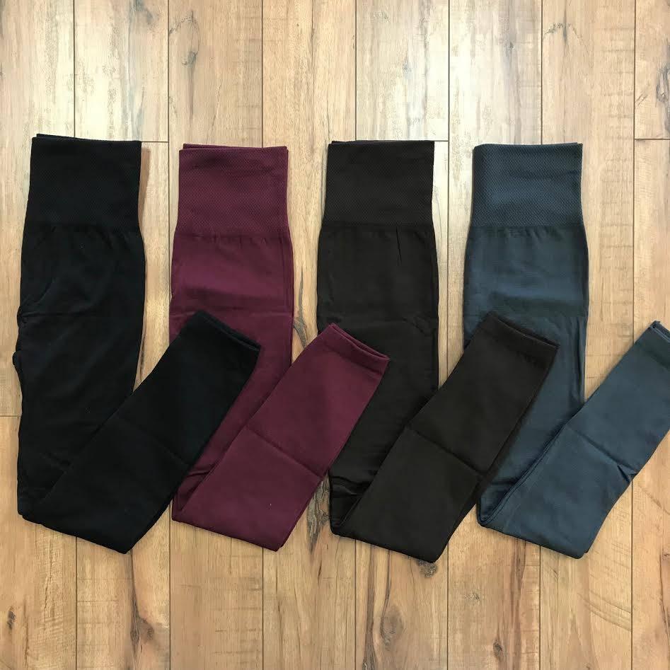 Charcoal High-Waist Fleece Legging