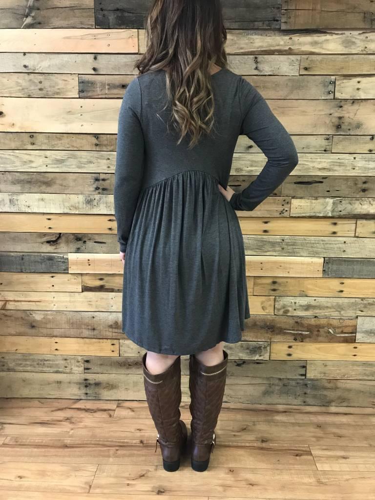 Charcoal Babydoll Dress