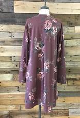 Plus Burgundy Floral Dress