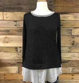 Black Stripe Underlay Sweater
