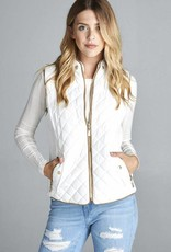 Ivory Quilted Vest