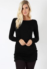 Black Ruched Tunic