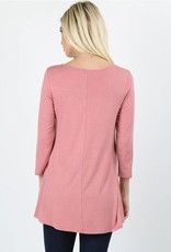 Dusty Rose Cage Top