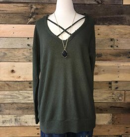 Olive Brushed Thermal Top