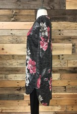 Charcoal Floral Tunic