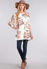Ivory/Orange Floral Tunic