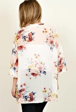 Plus Ivory Floral Kimono