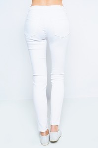 White Distressed Knee Skinny