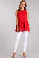 Red Lace Tank