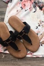 Black Tundra Sandal