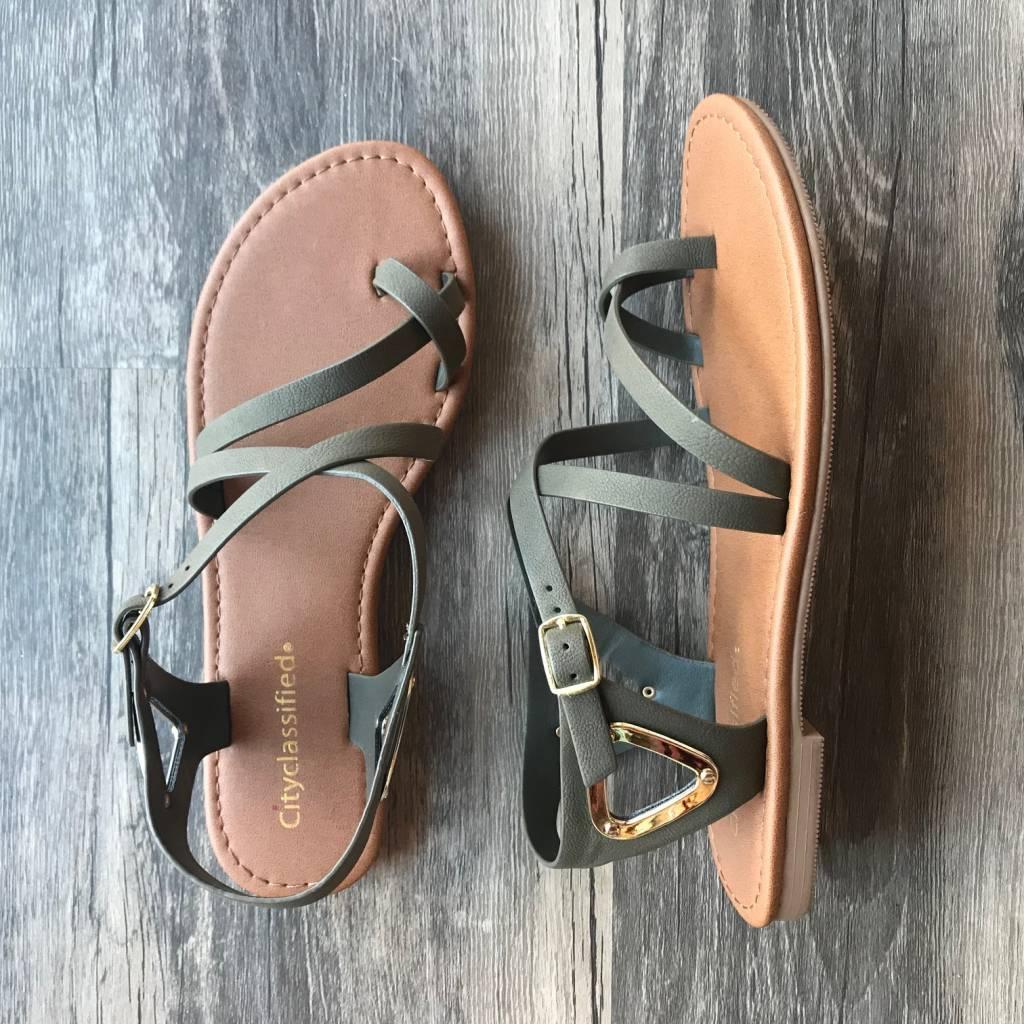 Olive Valine Sandal