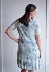 Grey Marble Criss-Cross Dress