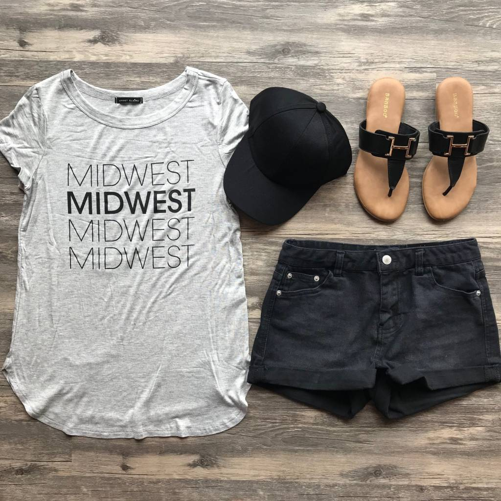 Grey Midwest Tee