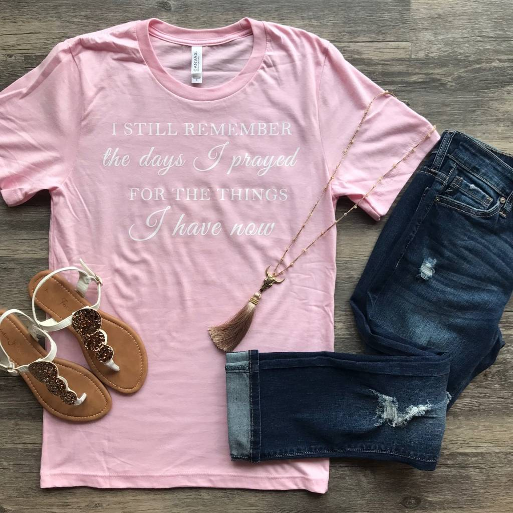 Pink Remember Tee