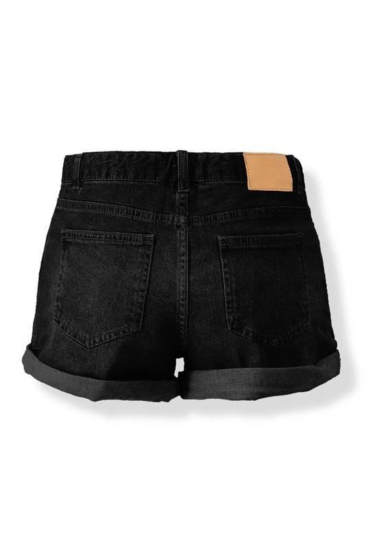 Vintage Black High-Waisted Denim Shorts