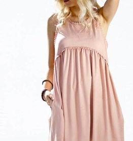 Dusty Pink Babydoll Dress