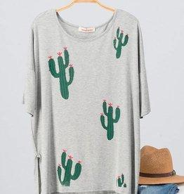 Grey Cactus Tee
