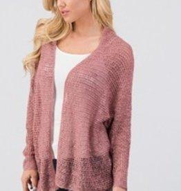 Mauve Open Knit Cardigan
