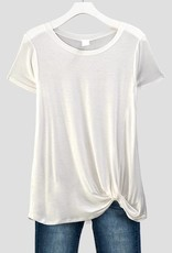 Ivory Front Knot Tee